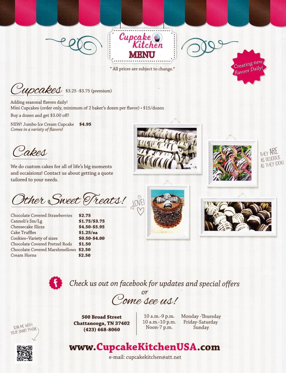 Whereisthemenu Net Cupcake Kitchen Chattanooga Tn 37402