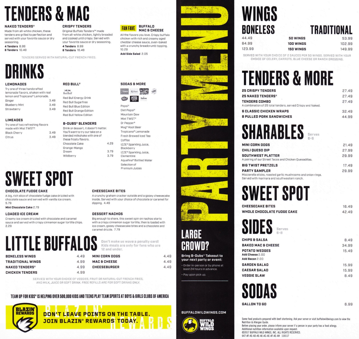 photograph regarding Buffalo Wild Wings Printable Menu called buffalo wild wings get together menu Special Birthday Get together Designs